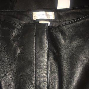 Worthington black leather pants